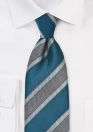 Striped Tie in Mediterranean Blues