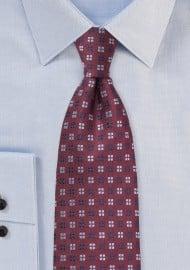 Silk Tie in Tawny Port Color