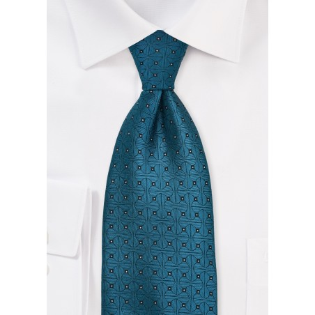 Teal Blue Designer Tie