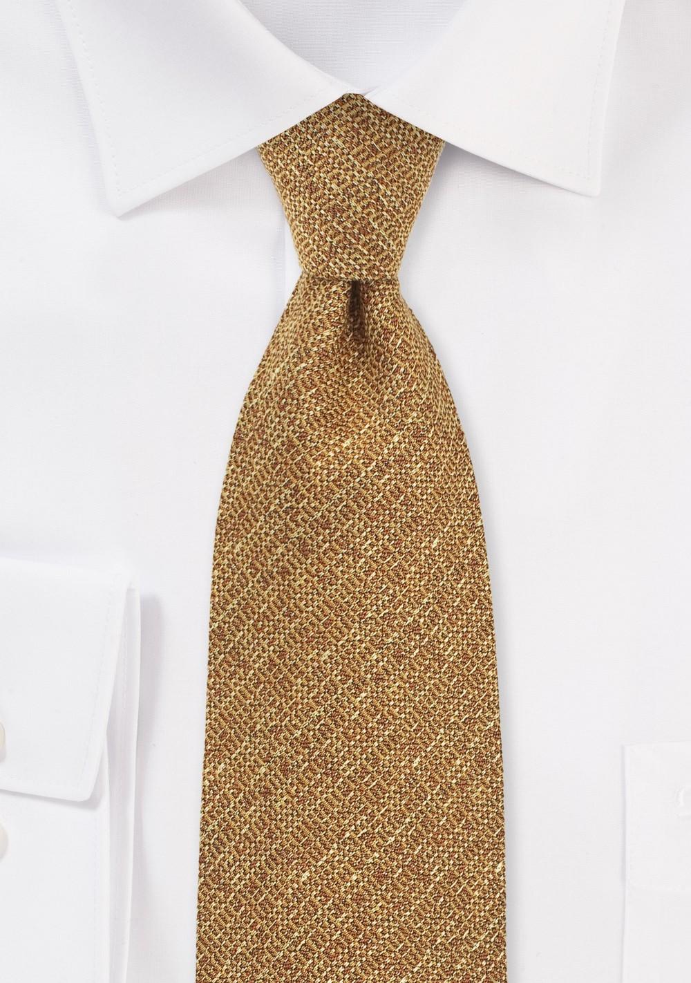 Harvest Gold Textured Necktie