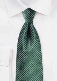 Hunter Green and Lavender Silk Tie