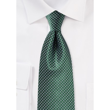 Hunter Green and Lavender Silk Tie