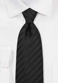 Black silk tie -  Classic handmade black tie