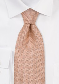 Salmon Designer Silk Tie in Kids Size