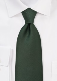 XL Mens Tie in Hunter Green