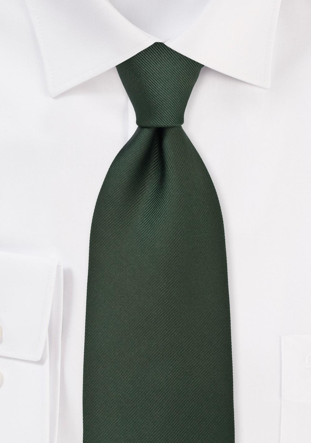 XL Mens Tie in Hunter Green