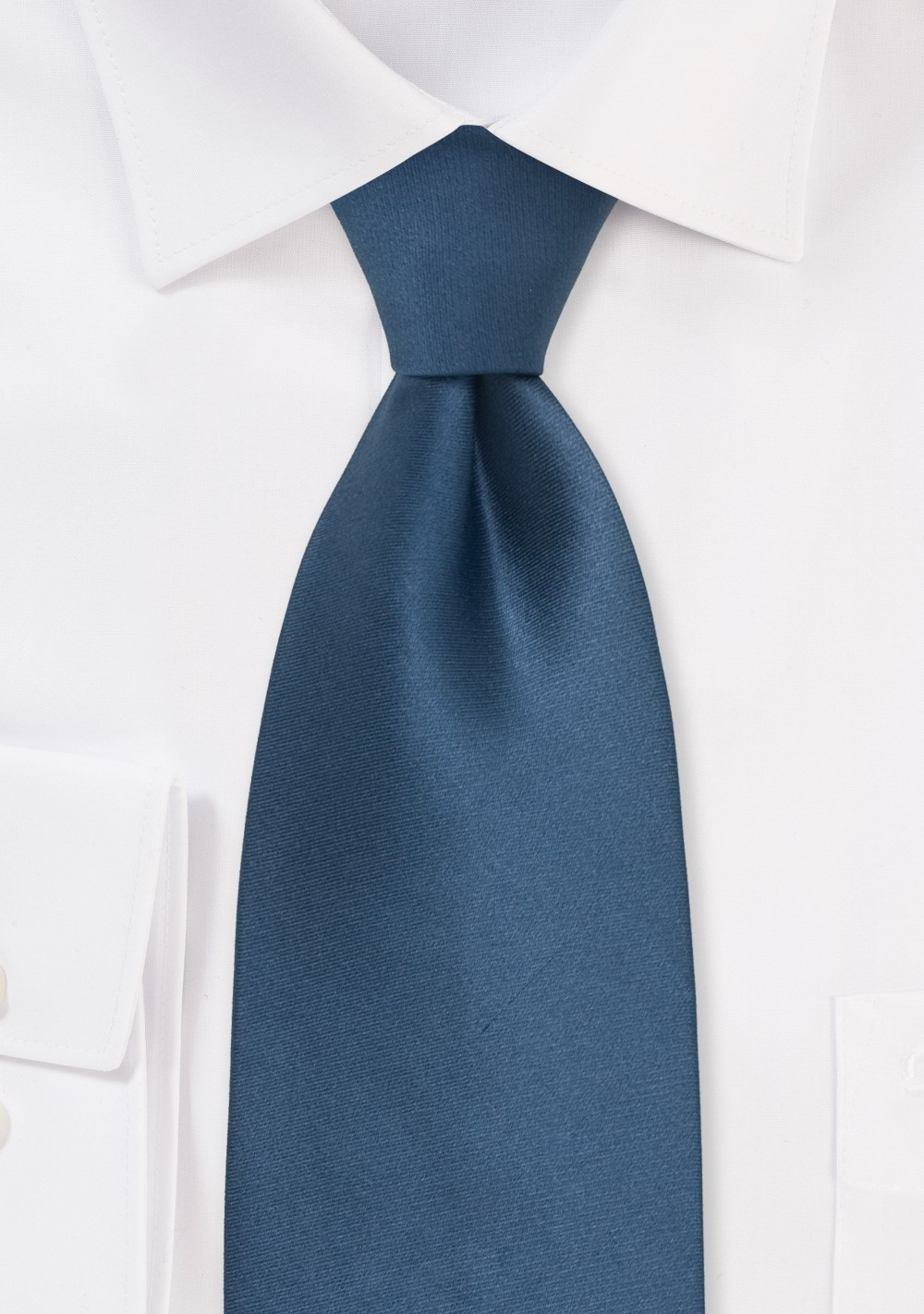 Solid Blue Ties - Necktie in Steel-Blue