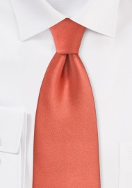 Dark Coral Red Necktie for Kids