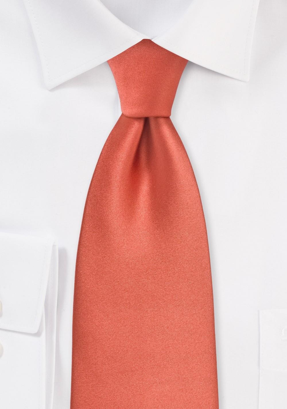 Dark Coral Red Necktie for Kids