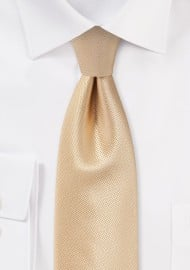 Golden Champagne Mens Necktie