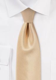 Golden Champagne Mens Necktie