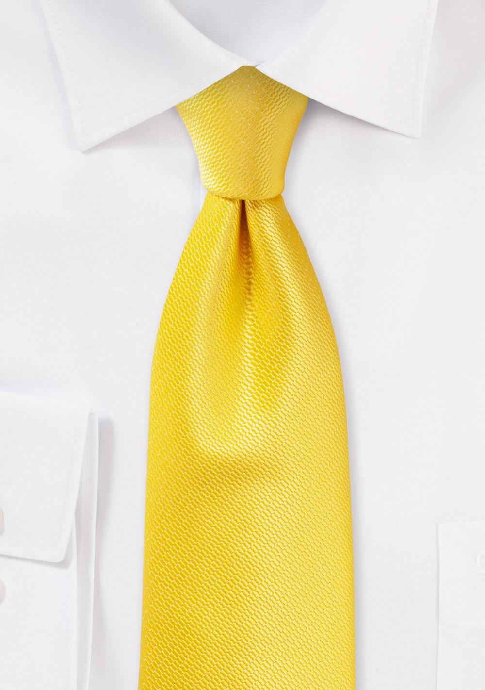 Bright Summer Tie in Daffodil