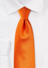 Tangerine Hued Mens Tie