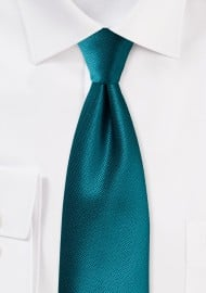 Textured Tie in Tealness