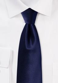 Formal Deep Navy Blue Mens Tie