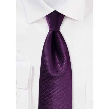 Italian Plum Hued Wedding Tie