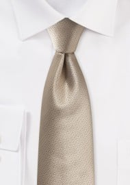Golden Textured Tie in Modern Cut