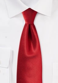 Textured Solid Tie in Elegant Cherry Red