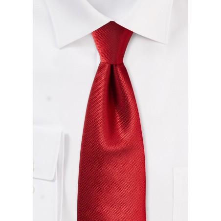 Textured Solid Tie in Elegant Cherry Red