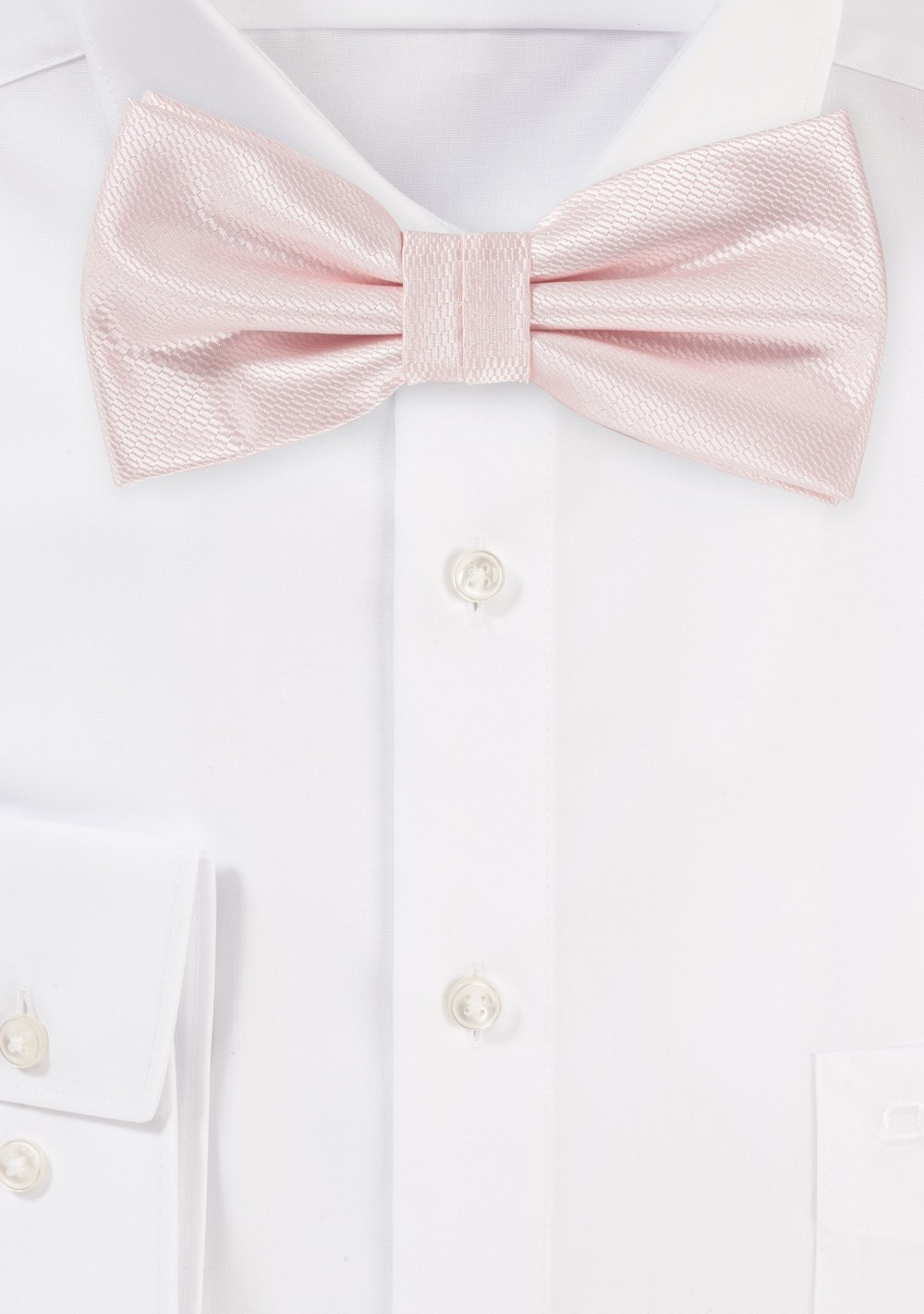 Bridal Bow Tie in Soft Blush