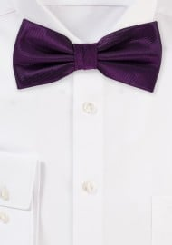Wedding Bow Tie in Italian Plum