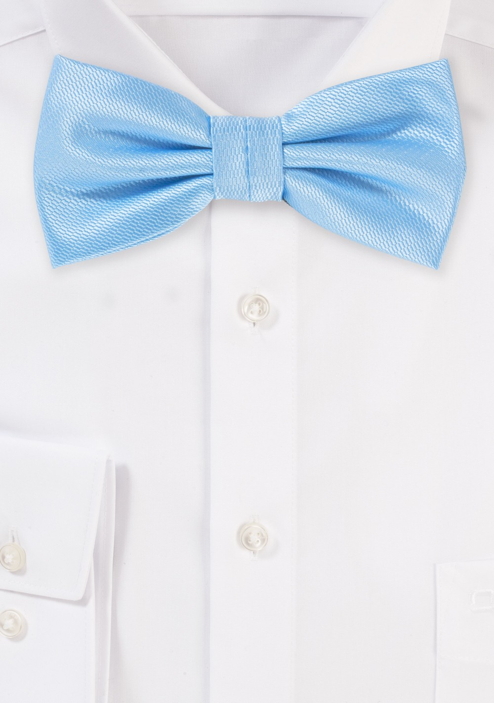 Elegant Summer Bow Tie in Capri Blue