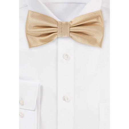 Wedding Bow Tie in Golden Champagne