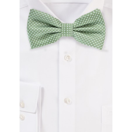 Sage Green Colored Bow Tie