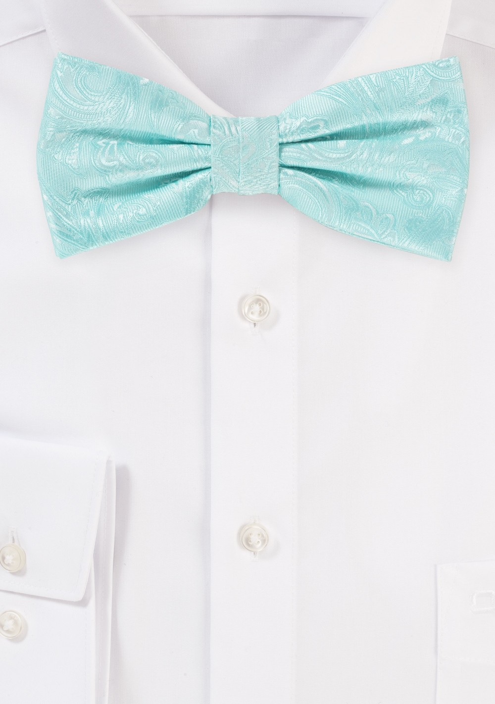 Paisley Bow Tie in Robins Egg Blue