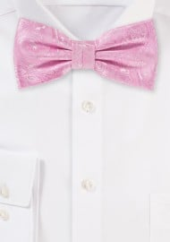 Carnation Pink Wedding Bow Tie