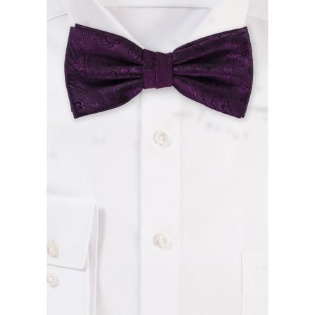 Berry Paisley Bow Tie
