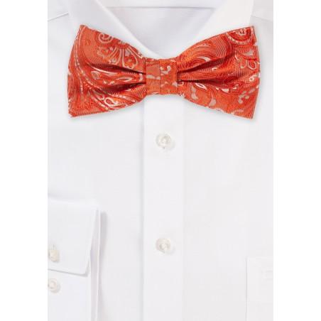 Tiger Lilly Orange Bow Tie