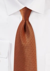 Kids Tie in Burnt Orange
