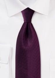 Herringbone Tie in Grape Purple