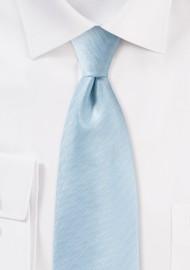 Herringbone Tie in Powder Blue