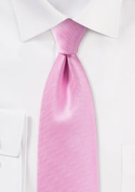 Carnation Pink Mens Tie