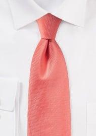 Herringbone Tie in Neon Coral