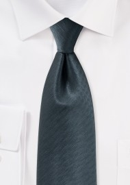 Herringbone Tie in Smoke Gray