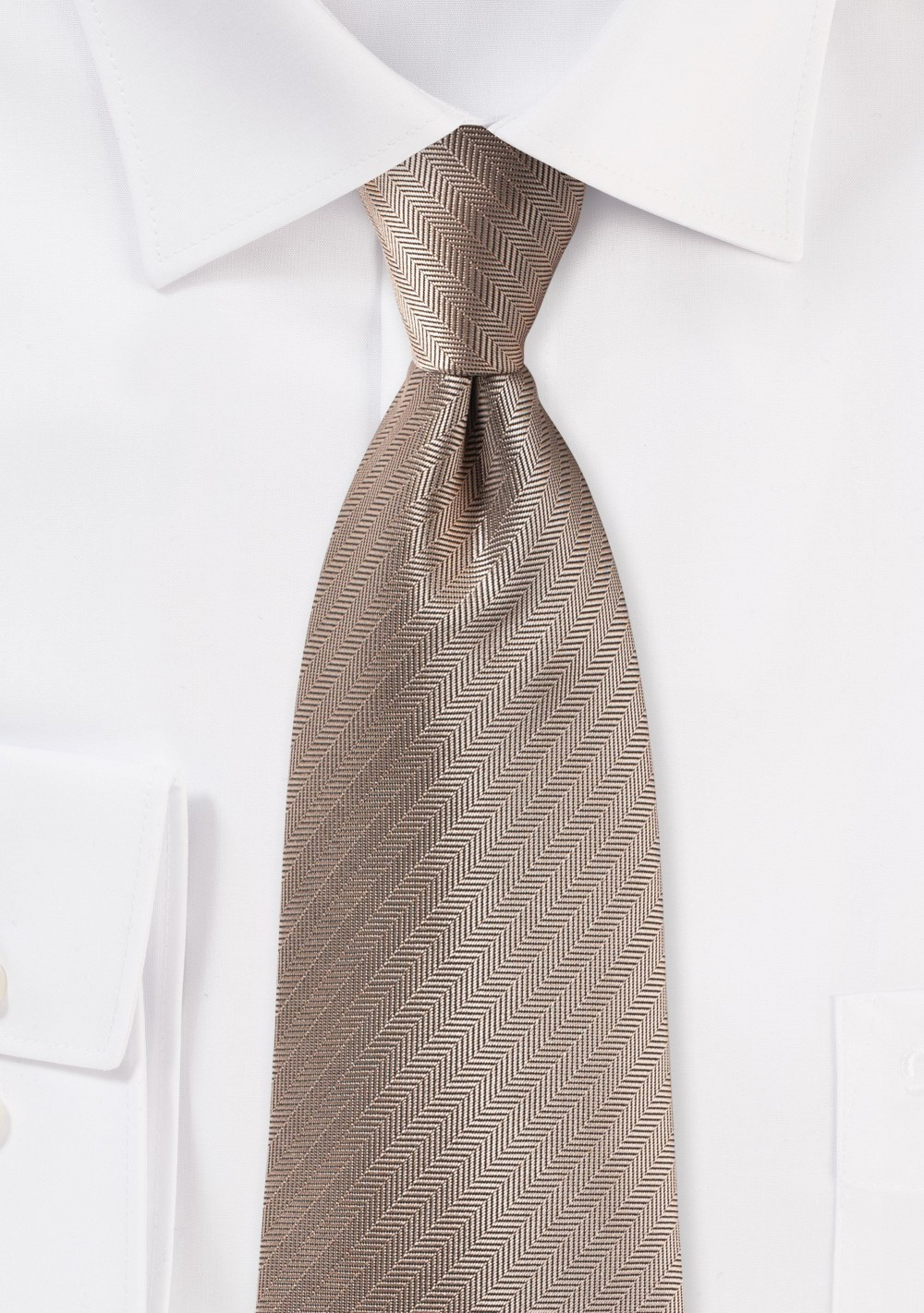 Herringbone Tie in Bronze Gold