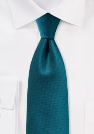 Teal Blue Herringbone Tie