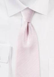 Blush Pink Tie with Herringbone Weave