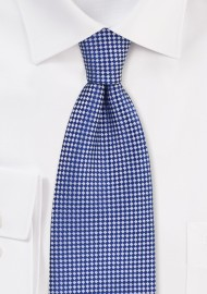 Royal Blue and Silver Micro Check Kids Tie