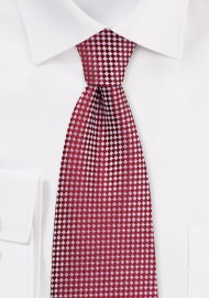 Red and Silver Micro-Plaid Tie