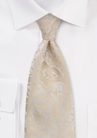 Classic Champagne Wedding Tie