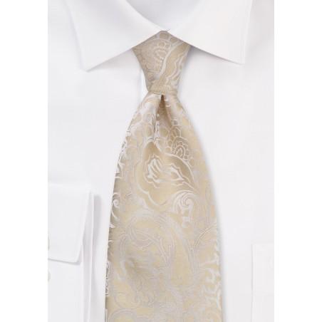 Classic Champagne Wedding Tie
