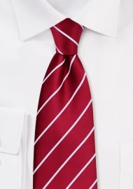 Red Neckties - Striped, cherry red tie