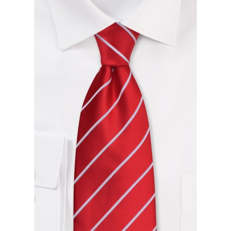 Bright Red Ties - Bright red men's necktie