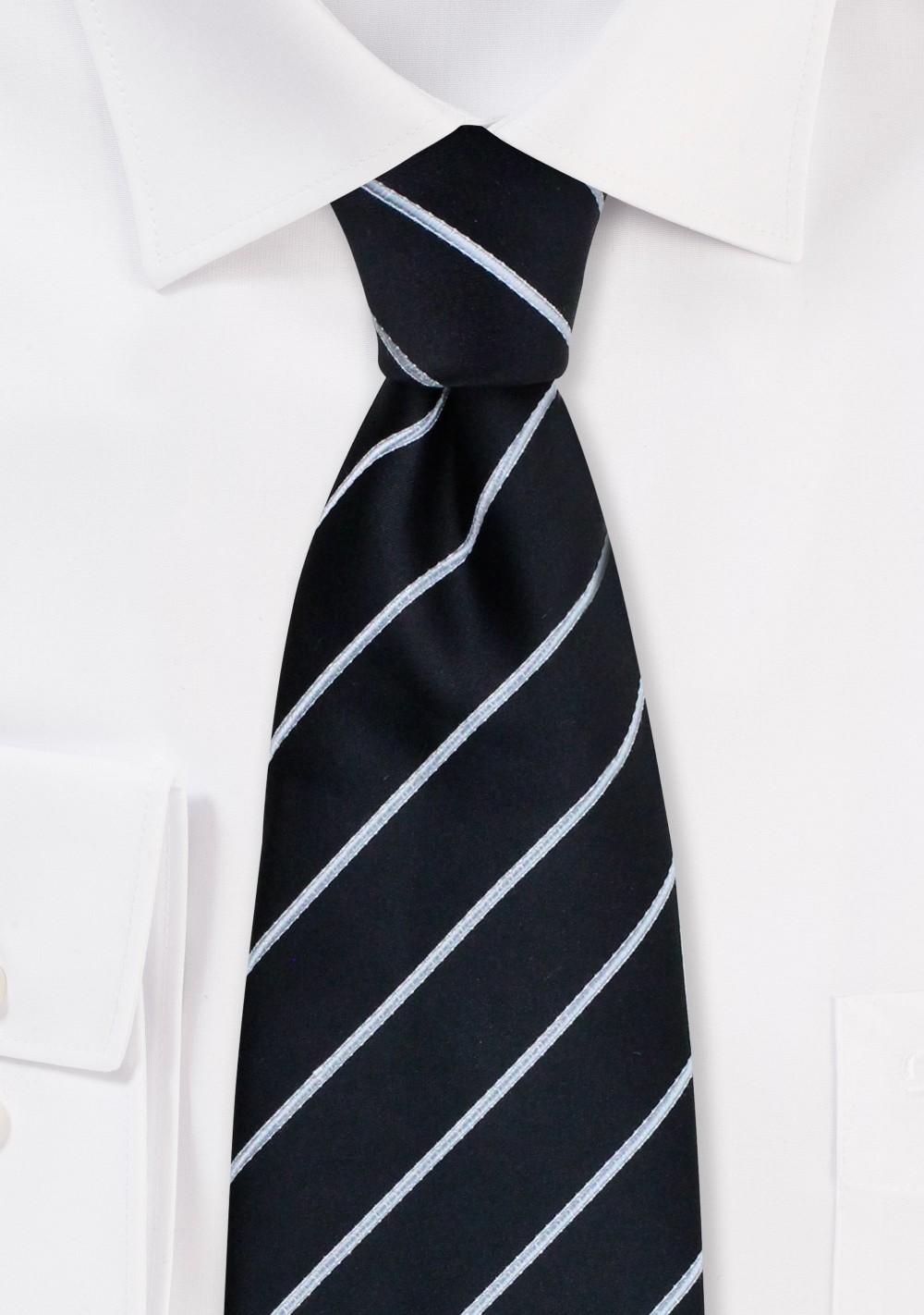 Formal neckties - Striped black necktie