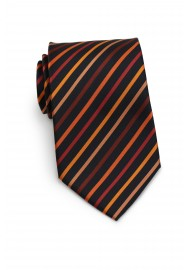 Orange & Black Striped Tie