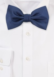 Grenadine Texture Bow Tie in Navy